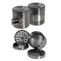 4 részes alumínium grinder adagolónyílással