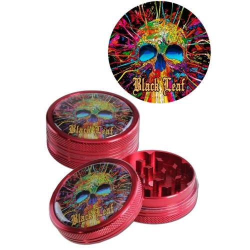 Black Leaf Cyber Skull Grinder 2 részes piros